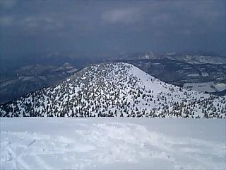 山頂から前嶽