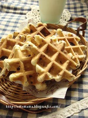 Choco-walnut waffles