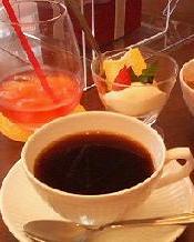 ウェルカムドリンク&デザート&コーヒー付き