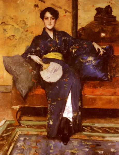460px-Chase_William_Merritt_The_Blue_Kimono_1888.jpg