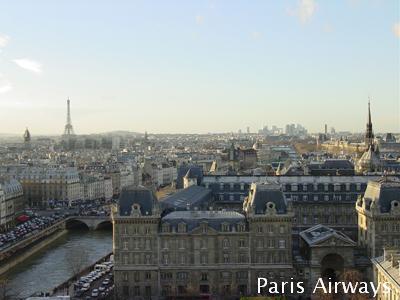 パリ ノートルダム寺院 エッフェル塔