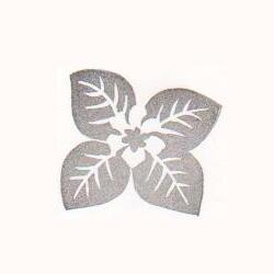 白い花の緑の葉っぱ・四つ葉