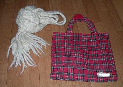 マフラーとバッグ