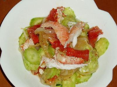 カニとトマトのイタリアンサラダ