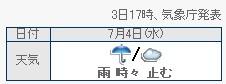 雨時々・・・?