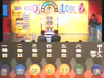 第320回(2006年12月07日)ロト6抽選結果・出目/(C)宝くじドリームステーション