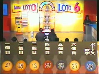 第324回(2007年01月04日)ロト6抽選結果・出目/(C)宝くじドリームステーション