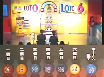 第332回(2007年03月01日)ロト6(LOTO6)抽選結果・出目/(C)宝くじドリームステーション