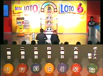 第333回(2007年03月08日)ロト6(LOTO6)抽選結果・出目/(C)宝くじドリームステーション