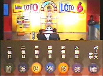 第335回(2007年03月22日)ロト6(LOTO6)抽選結果・出目/(C)宝くじドリームステーション