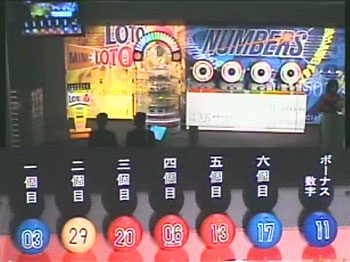 第336回(2007年03月29日)ロト6(LOTO6)抽選結果・出目/(C)宝くじドリームステーション