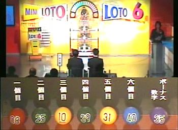 第338回(2007年04月12日)ロト6(LOTO6)抽選結果・出目/(C)宝くじドリームステーション