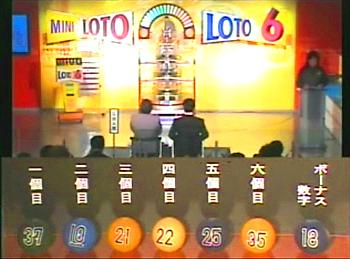 第345回(2007年05月31日)ロト6(LOTO6)抽選結果・出目/(C)宝くじドリームステーション
