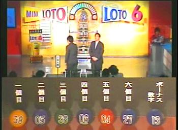 第348回(2007年06月21日)ロト6(LOTO6)抽選結果・出目/(C)宝くじドリームステーション