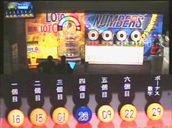 第353回(2007年07月26日)ロト6(LOTO6)抽選結果・出目/(C)宝くじドリームステーション