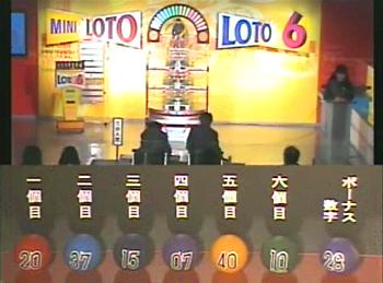 第362回(2007年09月27日)ロト6(LOTO6)抽選結果・出目/(C)宝くじドリームステーション