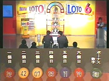 第364回(2007年10月11日)ロト6(LOTO6)抽選結果・出目/(C)宝くじドリームステーション
