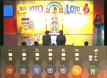 第365回(2007年10月18日)ロト6(LOTO6)抽選結果・出目/(C)宝くじドリームステーション