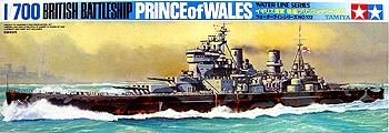 タミヤ 1/700 イギリス海軍 戦艦プリンスオブウェールズ・¥1020