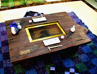 モダン囲炉裏テーブル