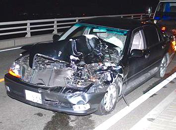 被疑者青年の運転していた事故車両