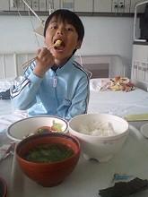 病院で朝食