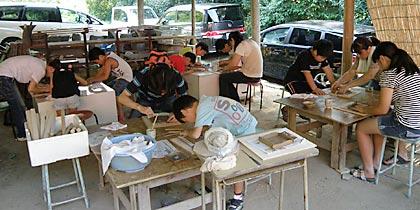 2011親子で陶芸体験1