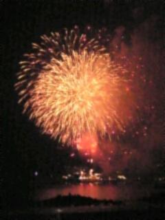 河口湖の花火