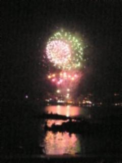 河口湖の花火2