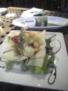 生春巻と海老の料理.jpg