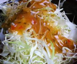 tesco chilli dressing on サラダ