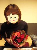 お花をもらいました へへへへ♪