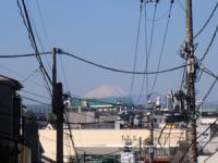 お家からも富士山がくっきり見えました