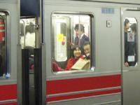 電車で帰りました