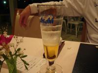 きれいなグラスだと飲んだごとのあわが残るんだって