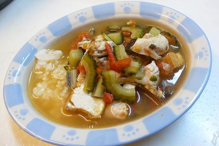 鶏胸肉とゴーヤの梅味噌煮