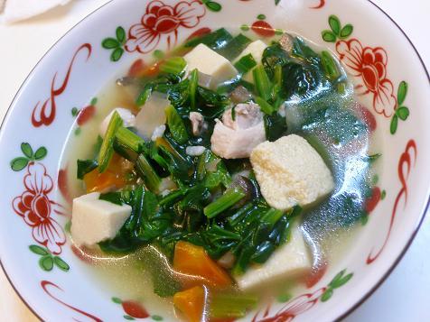 鶏肉と高野豆腐