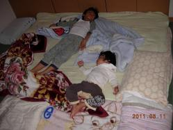 2人の寝相