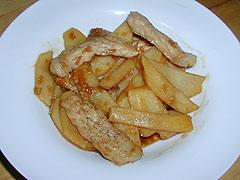 ポークポテトのバルサミコ風味