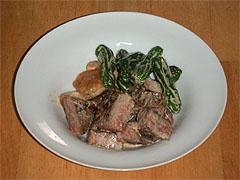 焼き野菜と牛肉の和マヨネーズ風味