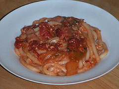 キムチトマトうどん