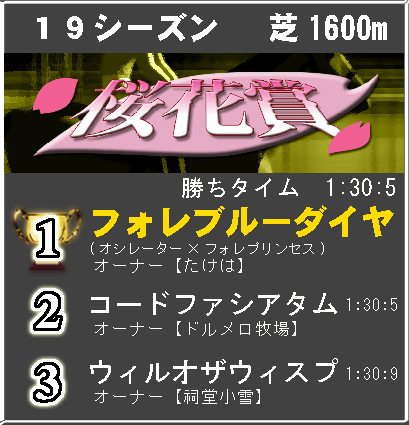 桜花賞19