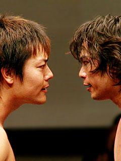 HARASHIMA vs KUDOの睨み合い