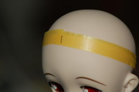 頭周りを計測