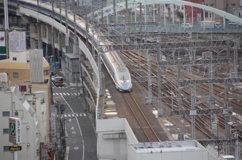 新幹線の500系だね