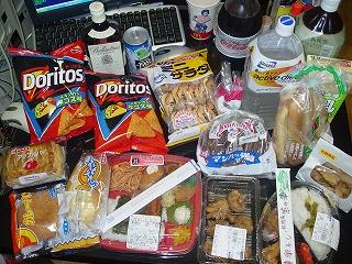 台風対策、食糧備蓄