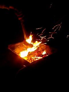 癒しの焚き火