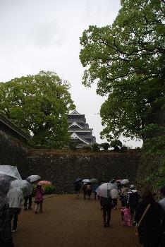 熊本城に到着だ!