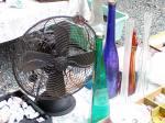 レトロ扇風機とガラス