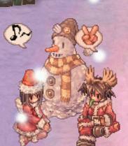 雪だるまとネコとネコ嫁